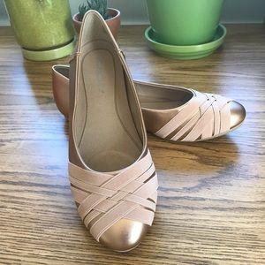 NWB pink metallic aerosoles 8.5 ballet